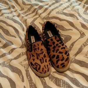 Steve Madden leopard print Loafer's size 7